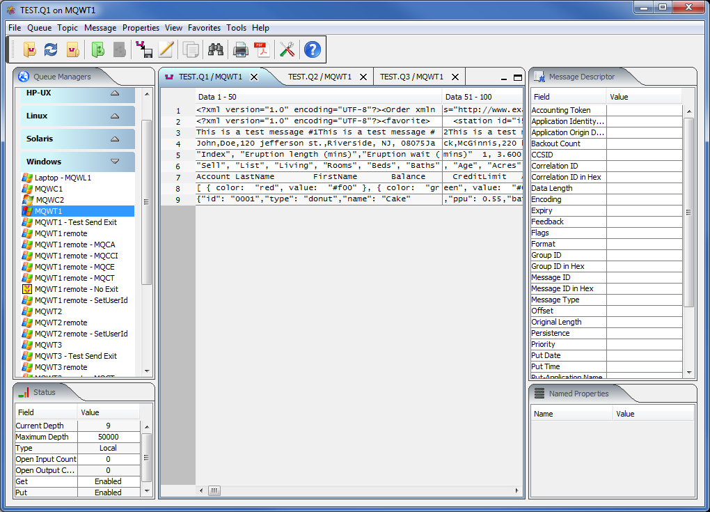 MQ Visual Browse full screenshot